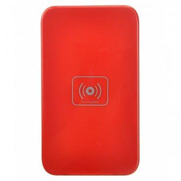 """Vezeték nélküli QI töltőállomás """"DC-X5"""" minden QI támogatott mobilkészülékhez - piros"""
