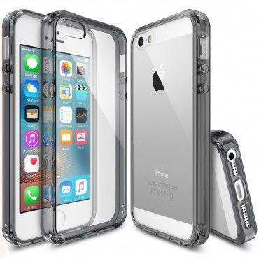"Tok Ringke ""Fusion"" iPhone SE / 5 / 5S készülékekhez - smoke black"