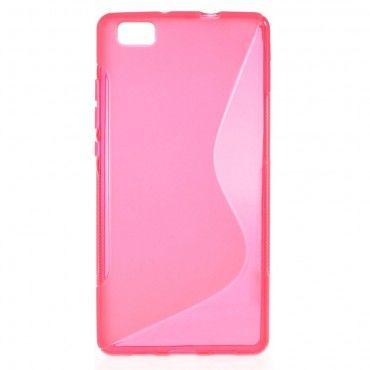 S-Line TPU géles védőtok Huawei P8 Lite készülékekhez – rózsaszín