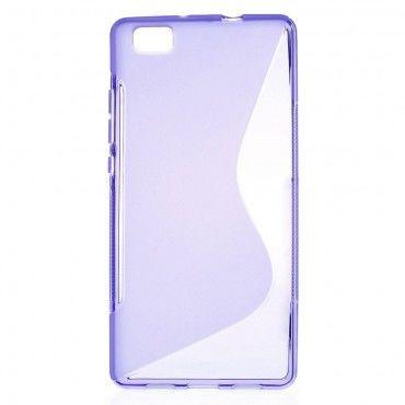 S-Line TPU géles védőtok Huawei P8 Lite készülékekhez – lila