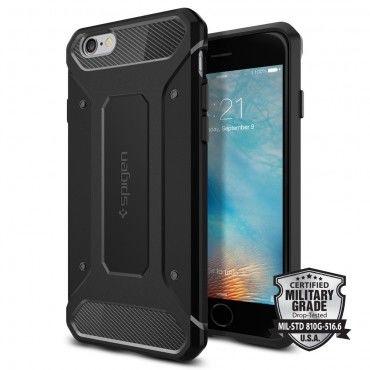 """Tok Spigen SGP """"Rugged Capsule"""" iPhone 6 / 6S készülékekhez - black"""