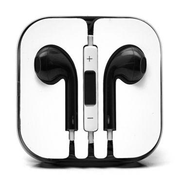 Fülbe helyezhető fejhallgató vezérlővel és mikrofonnal - fekete