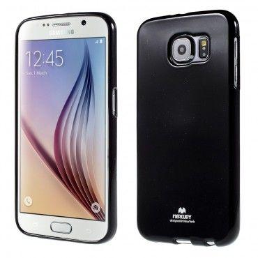 TPU géles Goospery Jelly Case védőtok Samsung Galaxy S6 készülékekhez – fekete