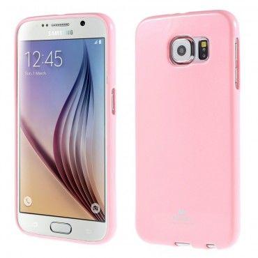 TPU géles Goospery Jelly Case védőtok Samsung Galaxy S6 készülékekhez – rózsaszín