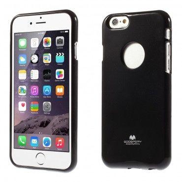TPU géles Goospery Jelly Case védőtok iPhone 6 / 6S készülékekhez – fekete