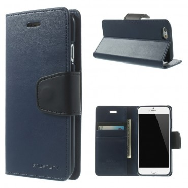 Elegáns Goospery Sonata tárca iPhone 6 / 6S készülékekhez – sötétkék