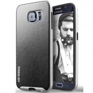 Caseology Envoy Series védőtok Samsung Galaxy S6 telefonokhoz – faszénfekete