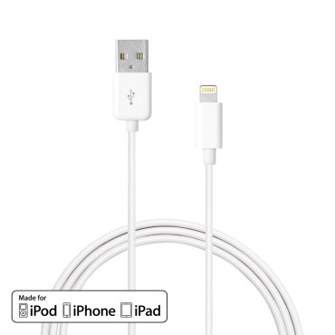 Prémium Era: MFI lightning kábel iPhone 7 / 7 Plus / 6S / 6S Plus / 6 / 6 Plus / SE / 5 / 5S / iPad Pro / iPad Air / iPad Mini készülékekhez