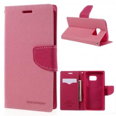Goospery Fancy Diary tárca Samsung Galaxy S7 készülékekhez – rózsaszín