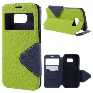 """Divatos """"Foldly"""" tárca Samsung Galaxy S7 készülékekhez – zöld"""