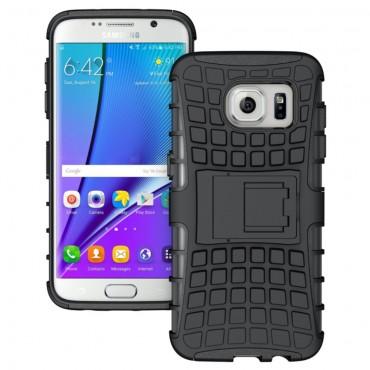"""Hibrid TPU géles """"Tough"""" védőtok Samsung Galaxy S7 Edge készülékekhez – fekete"""