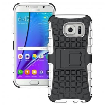 """Hibrid TPU géles """"Tough"""" védőtok Samsung Galaxy S7 Edge készülékekhez – fehér"""