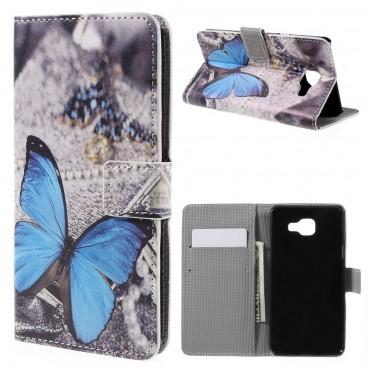 """Divatos """"Blue Butterfly"""" tárca Samsung Galaxy A5 2016 készülékekhez"""