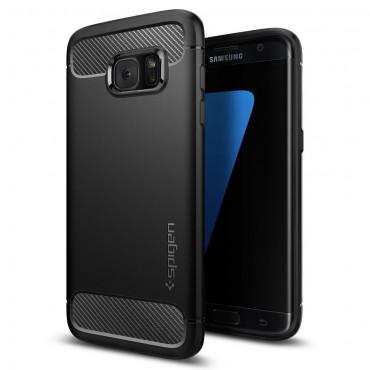 """Spigen """"Rugged Armor"""" védőtok Samsung Galaxy S7 Edge készülékekhez – fekete"""