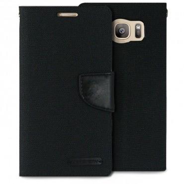 Goospery Canvas Diary tárca Samsung Galaxy S7 Edge készülékekhez – fekete