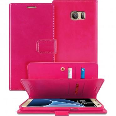 Goospery Mansoor Diary tárca Samsung Galaxy S7 Edge készülékekhez – magenta