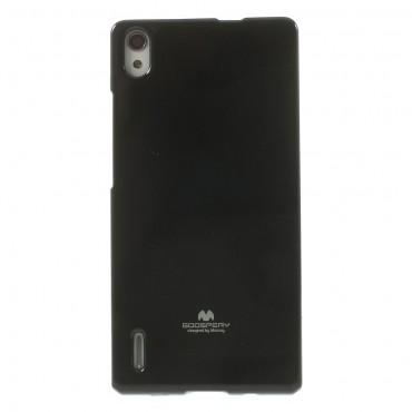 TPU géles Goospery Jelly Case védőtok Huawei P8 Lite készülékekhez – fekete