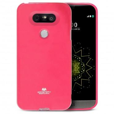 TPU géles Goospery Jelly Case védőtok LG G5 készülékekhez – magenta