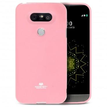 TPU géles Goospery Jelly Case védőtok LG G5 készülékekhez – rózsaszín