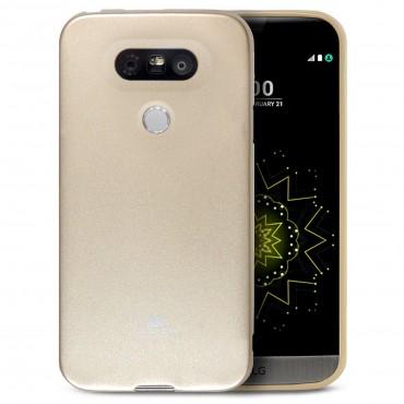 TPU géles Goospery Jelly Case védőtok LG G5 készülékekhez – aranyszínű