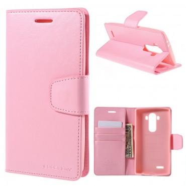 Elegáns Goospery Sonata tárca LG G5 készülékekhez – rózsaszín