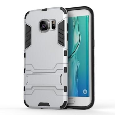 """Strapabíró """"Impact X"""" védőtok Samsung Galaxy S7 Edge készülékekhez – ezüstszínű"""