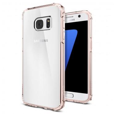 """Spigen """"Crystal Shell"""" védőtok Samsung Galaxy S7 készülékhez – rose crystal"""