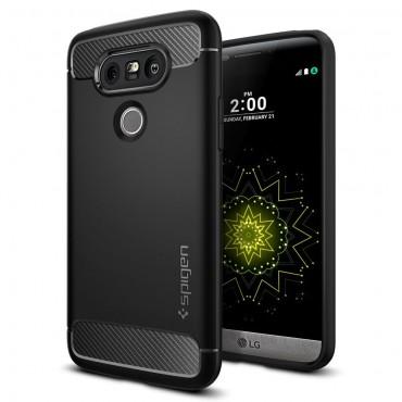 """Spigen """"Rugged Armor"""" védőtok LG G5 készülékekhez – fekete"""