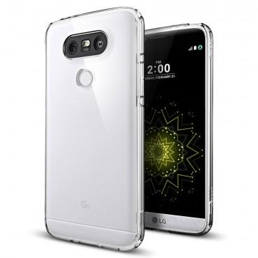 """Spigen """"Ultra Hybrid"""" védőtok LG G5 készülékhez – crystal clear"""
