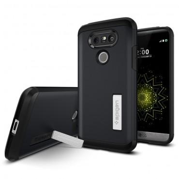 """Spigen """"Tough Armor"""" védőtok LG G5 készülékekhez – metal slate"""