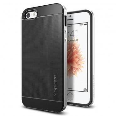 """Tok Spigen """"Neo Hybrid"""" iPhone SE / 5 / 5S készülékekhez - satin silver"""