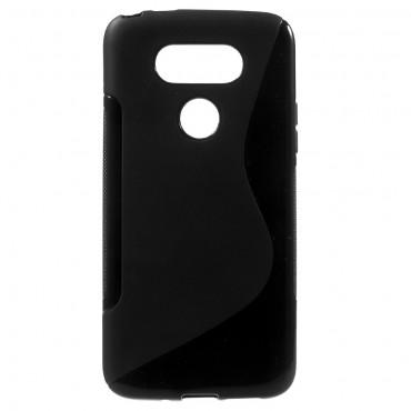 """TPU gél tok """"S-Line"""" LG G5 készülékekhez - fekete"""