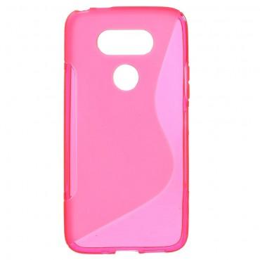 """TPU gél tok """"S-Line"""" LG G5 készülékekhez - rózsaszín"""