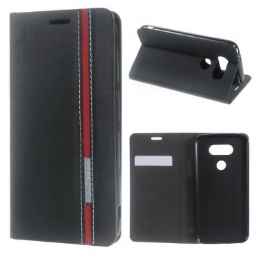 """Divatos nyitható tok """"Elegant Line"""" LG G5 készülékekhez - fekete"""