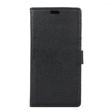 """Elegáns """"Litchi"""" műbőrtárca LG G5 készülékekhez – fekete"""