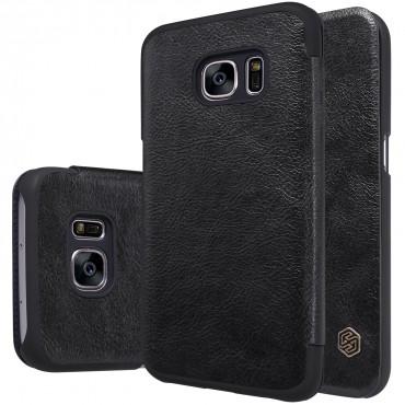 """Elegáns nyitható tok """"Qin"""" Samsung Galaxy S7 készülékekhez - fekete"""