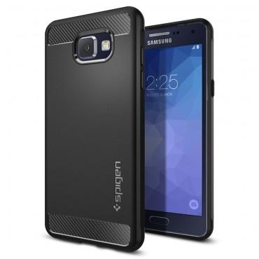 """Spigen """"Rugged Armor"""" védőtok Samsung Galaxy A5 2016 készülékekhez – fekete"""