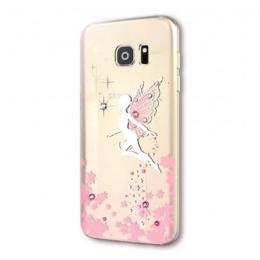 """Prémium tok Swarovski kristályokkal """"Fairy"""" Samsung Galaxy S7 készülékekhez - rózsaszín"""