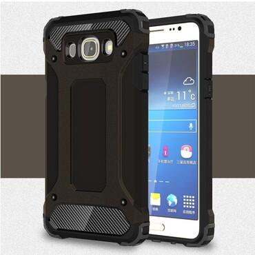 """Strapabíró """"Rock"""" védőtok Samsung Galaxy J5 2016 készülékekhez – fekete"""