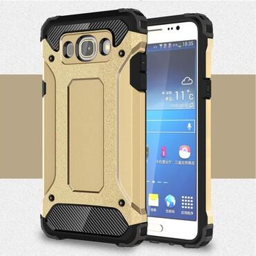 """Strapabíró """"Rock"""" védőtok Samsung Galaxy J5 2016 készülékekhez – aranyszínű"""