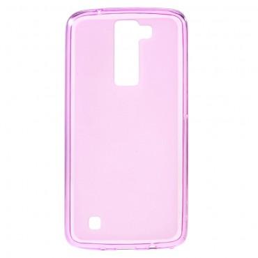TPU géles védőtok LG K8 készülékekhez – rózsaszín