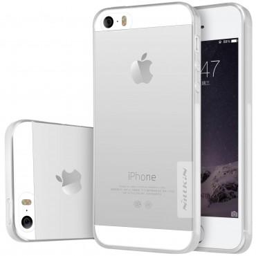 """Prémium vékony tok """"Nature"""" iPhone SE / 5 / 5S készülékekhez - átlátszó"""