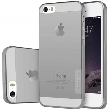 """Prémium vékony tok """"Nature"""" iPhone SE / 5 / 5S készülékekhez - szürke"""