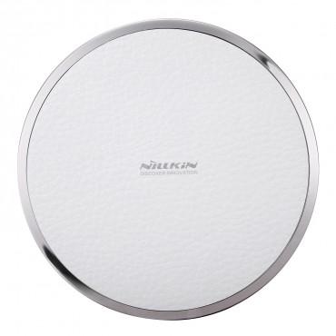 """Vezeték nélküli töltőállomás """"Magic Disc"""" Samsung Galaxy S7 / S7 Edge / S6 / S6 Edge telefonhoz – fehér"""