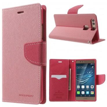 Goospery Fancy Diary tárca Huawei P9 készülékekhez – rózsaszín