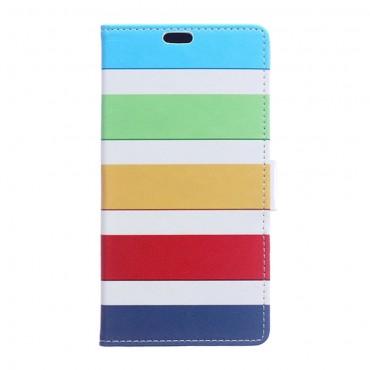 """Divatos nyitható tok """"Color Stripes"""" LG Stylus 2 készülékekhez"""