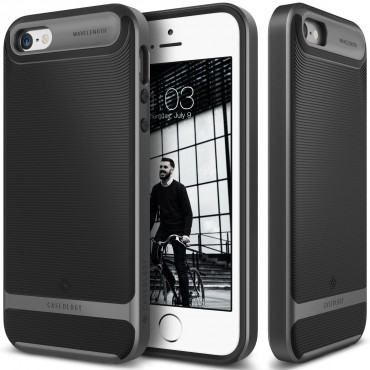 Tok Caseology Wavelength Series New iPhone SE / 5 / 5S készülékekhez - black