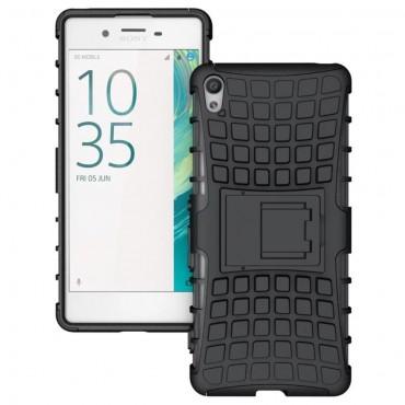 """Strapabíró """"Tough"""" TPU védőtok Sony Xperia XA készülékekhez – fekete"""