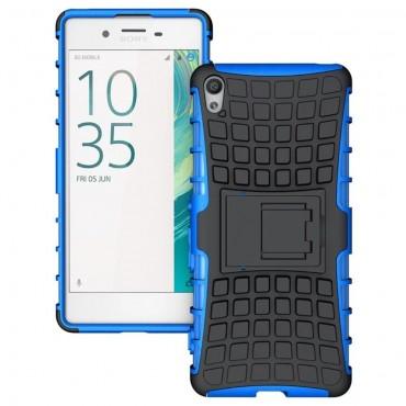 """Hibrid TPU géles """"Tough"""" védőtok Sony Xperia XA készülékekhez – kék"""