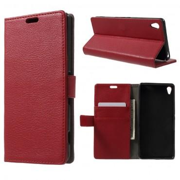 """Elegáns """"Litchi"""" tárca Sony Xperia XA készülékekhez – piros"""